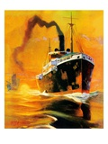 """Freighter,""December 14, 1935 Reproduction procédé giclée par Edgar Franklin Wittmack"