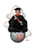 """Graduate on Top of the World,""June 13, 1925 Giclee Print by Edmund Davenport"