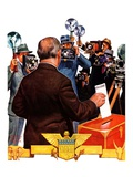 """Candidate Voting,""November 7, 1936 Giclee Print by Edgar Franklin Wittmack"
