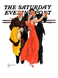 """Cutting In,"" Saturday Evening Post Cover, December 7, 1935 Giclee Print by R.J. Cavaliere"