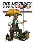 """Traffic Cop,"" Saturday Evening Post Cover, June 5, 1926 Giclee Print by Alan Foster"