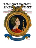 &quot;Reflections of Halloween,&quot; Saturday Evening Post Cover, October 26, 1929 Giclee Print by Elbert Mcgran Jackson