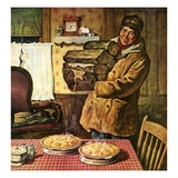 """Eyeing the Pies,""January 1, 1945 Giclee Print by Amos Sewell"