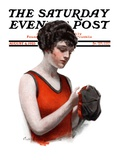 &quot;Hole in Bathing Cap,&quot; Saturday Evening Post Cover, August 4, 1923 Giclee Print by Charles A. MacLellan