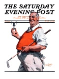 """Golf Trophy,"" Saturday Evening Post Cover, June 6, 1925 Giclee Print by George Brehm"