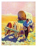 """Lost in the Desert,""July 1, 1938 Giclee Print by Charles Hargens"