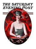 """Majong,"" Saturday Evening Post Cover, January 5, 1924 Giclee Print by Henry Soulen"