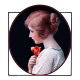 """Woman and a Rose,""March 22, 1924 Giclee Print by Harold Copping"