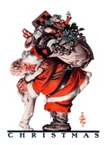 """Hug from Santa,""December 26, 1925 Giclee Print by Joseph Christian Leyendecker"