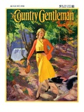 """A Walk in the Woods,"" Country Gentleman Cover, August 1, 1931 Giclee Print by John Newton Howitt"