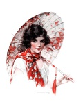 """Japanese Parasol,""August 15, 1925 Giclee Print by J. Knowles Hare"