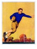 """""""Football Player,""""November 1, 1931 Giclee Print by John Newton Howitt"""