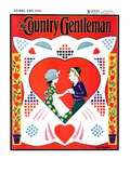 """Valentine Couple Cut-Out,"" Country Gentleman Cover, February 1, 1933 Giclee Print by W. P. Snyder"