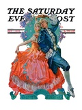 """Dancing Couple,"" Saturday Evening Post Cover, December 1, 1928 Giclee Print by Elbert Mcgran Jackson"