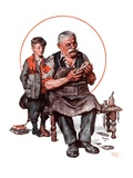"""Cobbler and Holey Shoe,""January 30, 1926 Giclee Print by Lawrence Toney"