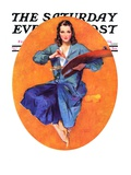 """Artist and Her Palette,"" Saturday Evening Post Cover, September 9, 1933 Giclee Print by John LaGatta"