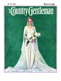 """Bride with Calla Lilies,"" Country Gentleman Cover, June 1, 1931 Giclee Print by McClelland Barclay"