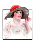 """Wide Brim Hat,""April 28, 1923 Giclee Print by WM. Hoople"