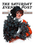 """Holly Bouquet,"" Saturday Evening Post Cover, December 13, 1924 Giclee Print by Charles A. MacLellan"