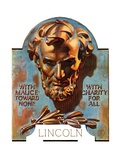 """Bronze Lincoln,""February 12, 1938 Giclee Print by J.C. Leyendecker"