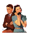 """Phone Call from Another Suitor,""May 27, 1939 Giclee Print by Douglas Crockwell"