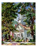"""Steepled Church,""April 1, 1939 Giclee Print by G. Kay"