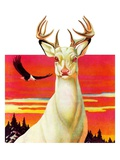 &quot;Albino Deer,&quot;January 8, 1938 Giclee Print by Jack Murray