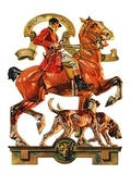 """Fall Foxhunting,""October 19, 1929 Giclee Print by Joseph Christian Leyendecker"