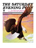 """Soaring Bald Eagle,"" Saturday Evening Post Cover, October 28, 1933 Giclee Print by Jack Murray"