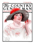 """Wide Brim Hat,"" Country Gentleman Cover, April 28, 1923 Giclee Print by WM. Hoople"