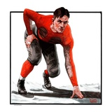 """Football Player,""November 3, 1923 Giclee Print by WM. Hoople"