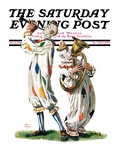 """Musical Clowns,"" Saturday Evening Post Cover, August 10, 1929 Giclee Print by Alan Foster"