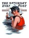 """Toy Sailboat,"" Saturday Evening Post Cover, August 1, 1925 Giclee Print by Charles A. MacLellan"