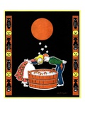 """Bumping Bobbing for Apples,""October 1, 1931 Giclee Print by W. P. Snyder"