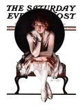 """Waiting,"" Saturday Evening Post Cover, April 14, 1923 Giclee Print by Pearl L. Hill"