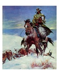 """Herding in Winter Storm,""March 1, 1944 Giclee Print by Matt Clark"