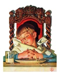 """After Turkey Nap,""November 26, 1938 Giclee Print by Joseph Christian Leyendecker"