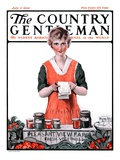 """""""Pleasant View Farms,"""" Country Gentleman Cover, July 11, 1925 Giclee Print by Harold Brett"""