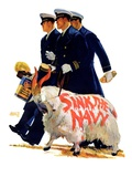 """Sink the Navy,""November 30, 1935 Giclee Print by Albert W. Hampson"
