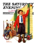 """Sick Pooch,"" Saturday Evening Post Cover, July 29, 1933 Giclee Print by Russell Sambrook"