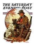 """Hunter and Spaniel,"" Saturday Evening Post Cover, November 3, 1928 Lámina giclée por J.F. Kernan"