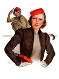 """Matching Monkey Hats,""March 26, 1938 Giclee Print by Neysa Mcmein"
