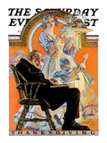 """Childhood Thanksgiving,"" Saturday Evening Post Cover, November 26, 1927 Giclee Print by Joseph Christian Leyendecker"