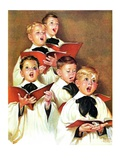 """Choir Boys Will Be Boys,""December 10, 1938 Giclee Print by Frances Tipton Hunter"