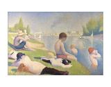 Bañistas en Asnières, 1884 Lámina giclée por Georges Seurat