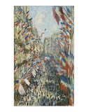 The Rue Montorgueil in Paris Celebration of June 30, 1878 Giclée-tryk af Claude Monet