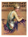 """Pastel Portrait,"" Saturday Evening Post Cover, January 24, 1931 Giclee Print by Guy Hoff"
