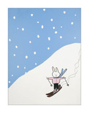 Lala thinks she should have stuck to the Bunny Slope Giclee Print by Brian Nash
