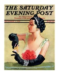 """At the Opera,"" Saturday Evening Post Cover, December 9, 1933 Giclee Print by Tempest Inman"