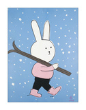 Lala says she goes to Aspen to ski... Giclee Print by Brian Nash